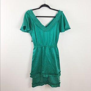 Frock! by Tracy Reece Green Silk Dress